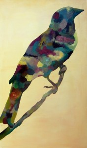 Multicolored Bird Paintings - Susan Carney Artisit